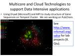 multicore and cloud technologies to support data intensive applications