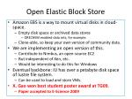 open elastic block store