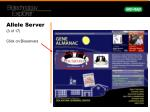 allele server 3 of 17 click on bioservers
