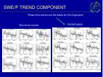 swe p trend component