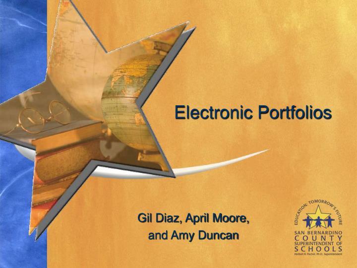 electronic portfolios n.