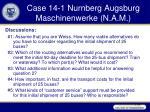 case 14 1 nurnberg augsburg maschinenwerke n a m3