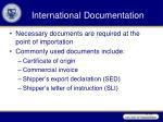 international documentation1