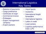 international logistics key terms