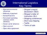 international logistics key terms1