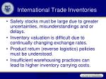 international trade inventories