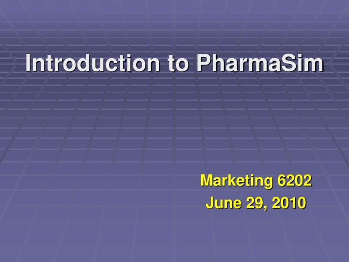 introduction to pharmasim n.