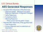 aes generated responses
