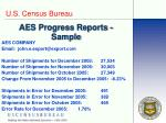 aes progress reports sample