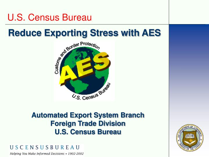 reduce exporting stress with aes n.