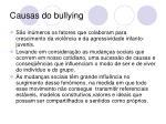 causas do bullying