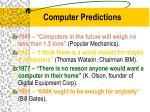 computer predictions