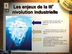 les enjeux de la iii r volution industrielle