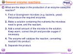 general enzyme reactions