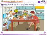 uses of biotechnology