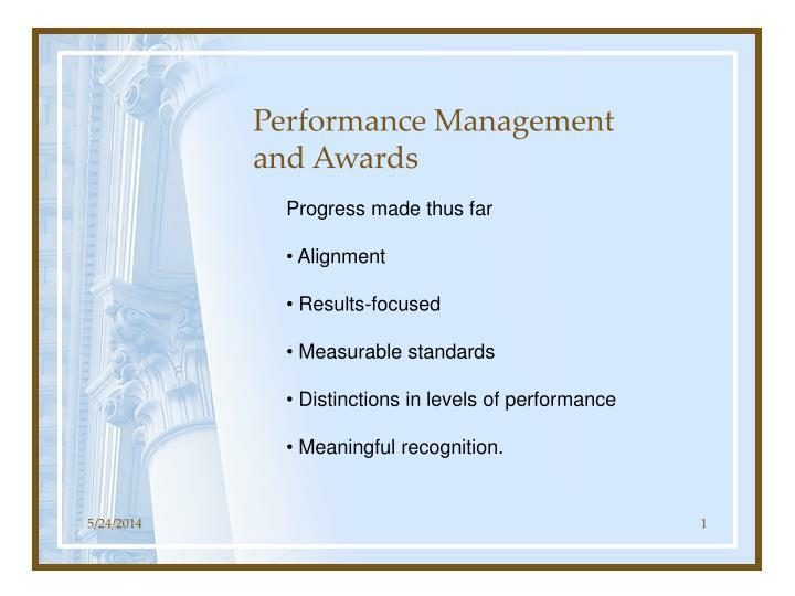 performance management and awards n.