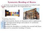 symmetric bending of beams