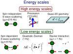 energy scales