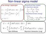 non linear sigma model