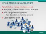 virtual machines management