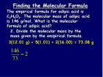 finding the molecular formula1