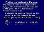 finding the molecular formula2