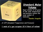 standard molar volume