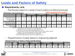 loads and factors of safety