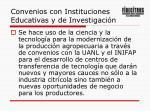 convenios con instituciones educativas y de investigaci n