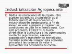 industrializaci n agropecuaria