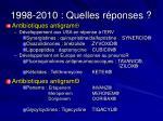 1998 2010 quelles r ponses