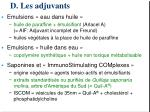 d les adjuvants1