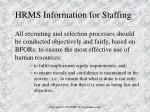 hrms information for staffing