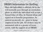 hrms information for staffing1