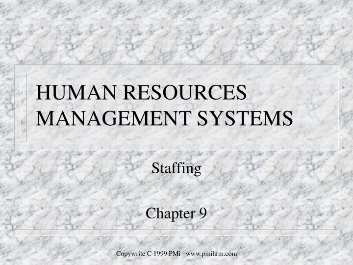 human resources management systems n.