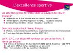 l excellence sportive