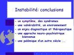 instabilit conclusions