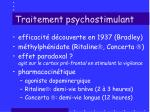traitement psychostimulant