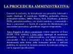 la procedura amministrativa