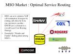 mso market optimal service routing