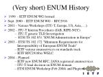very short enum history