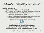 allocable what does it mean