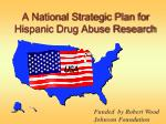 a national strategic plan for hispanic drug abuse research