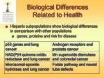 biological differences related to health