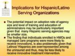 implications for hispanic latino serving organizations
