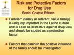 risk and protective factors for drug use social context effects