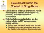sexual risk within the context of drug abuse1