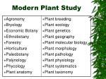 modern plant study