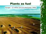 plants as fuel
