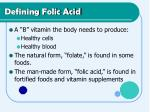 defining folic acid